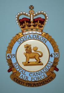 RCAF Squadron 435 Cert Provehendi